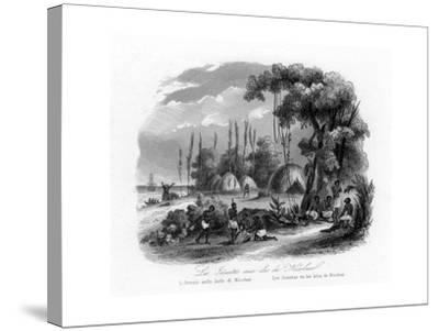 Jesuits in the Nicobar Islands, India, C1840-N Remond-Stretched Canvas Print
