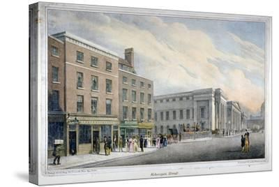 Aldersgate Street, City of London, C1830-Nathaniel Whittock-Stretched Canvas Print