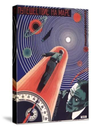 Poster for the Film Travel to Mars, 1926-Nikolaj Prusakov-Stretched Canvas Print