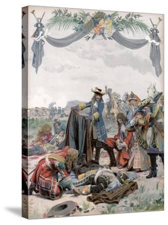 Death of Henri, Vicomte De Turenne, French Soldier, 1675 (C1871-194)-Maurice Leloir-Stretched Canvas Print