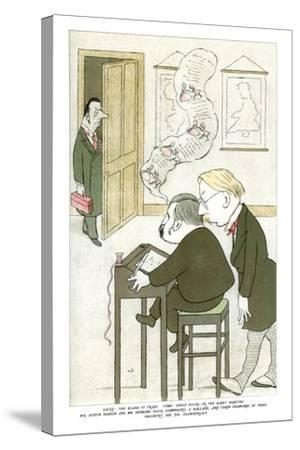 Mr Austin Dobson and Mr Edmund Gosse Composing a Ballade, 1904-Max Beerbohm-Stretched Canvas Print