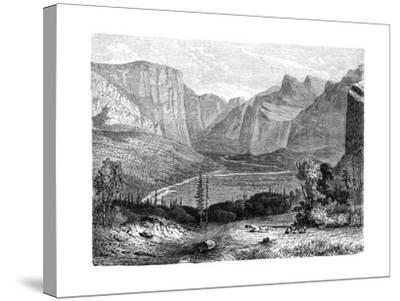 Yosemite Valley, California, 19th Century-Paul Huet-Stretched Canvas Print