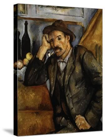 A Smoker, 1890-1892-Paul C?zanne-Stretched Canvas Print