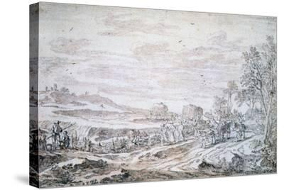 Landscape with Reapers, C1615-1661-Pieter Molijn-Stretched Canvas Print