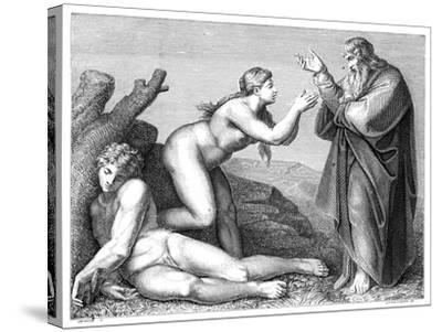 The Creation of Eve, 1899- Pennemaeker-Stretched Canvas Print