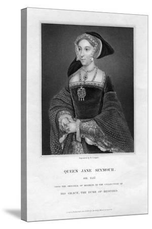 Jane Seymour, Third Wife and Queen of Henry VIII of England-R Cooper-Stretched Canvas Print