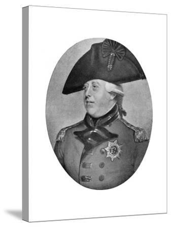 George III of the United Kingdom, Late 18th-Early 19th Century-Richard Cosway-Stretched Canvas Print