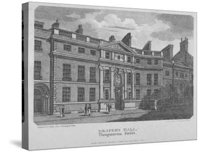 Drapers' Hall, Throgmorton Street, City of London, 1812-Robert Sands-Stretched Canvas Print