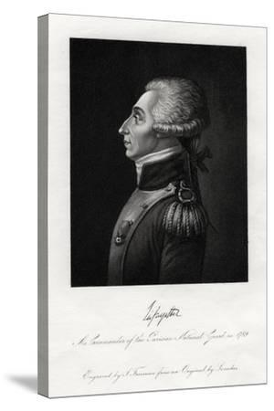 Marquis De Lafayette, French Military Leader and Statesman, 1845-S Freeman-Stretched Canvas Print