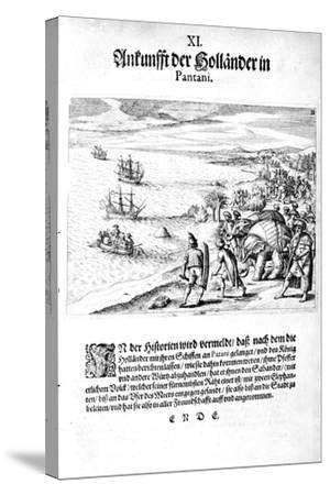 Invasion by Vice Admiral Sebold, 1606-Theodore de Bry-Stretched Canvas Print