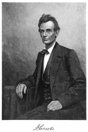 Abraham Lincoln (1809-186), US President, 1860-T Cole-Stretched Canvas Print