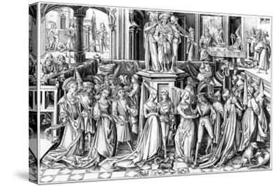 The Feast of Salomé, C1490s- Rosotte-Stretched Canvas Print
