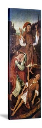 Adam and Eve Crying over the Body of Able, C1440-1495-Vrancke van der Stockt-Stretched Canvas Print