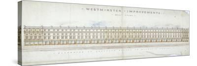 Elevation of Proposed Houses in Victoria Street, Westminster, London, C1845-Tyler-Stretched Canvas Print