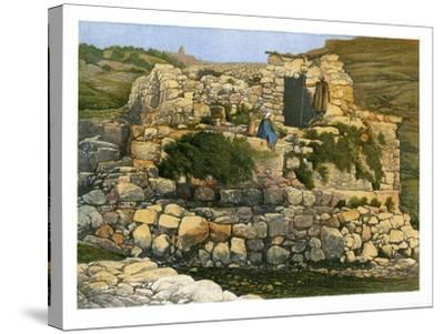The Well of En-Rogel, Jerusalem, C1870-W Dickens-Stretched Canvas Print
