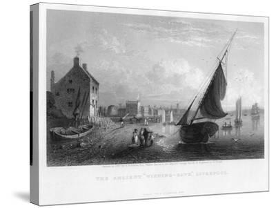 The Ancient 'Wishing-Gate, Liverpool, 1833-W Floyd-Stretched Canvas Print