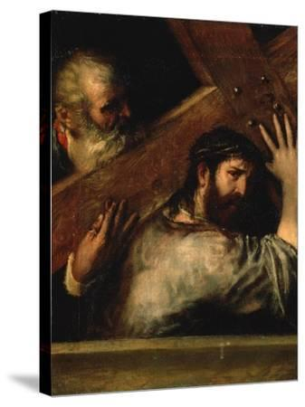 Christ Carrying the Cross, 1560S-Titian (Tiziano Vecelli)-Stretched Canvas Print
