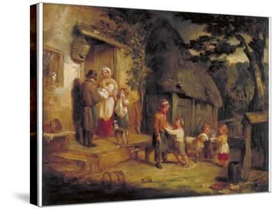 The Pet Lamb, C1813-William Collins-Stretched Canvas Print