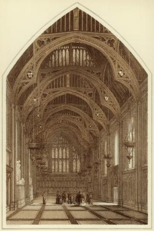 Guildhall Interior, City of London, 1886-William Griggs-Stretched Canvas Print