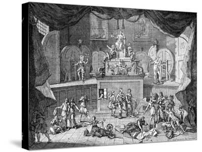 The Lottery, 1721-William Hogarth-Stretched Canvas Print