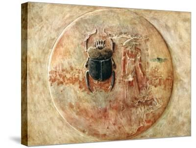 Scarab and Ra, Tomb of Seti, Egypt, 1910-Walter Tyndale-Stretched Canvas Print