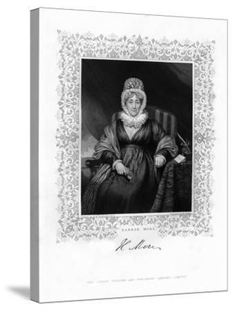 Hannah More, English Religious Writer and Philanthropist, 19th Century-William Finden-Stretched Canvas Print