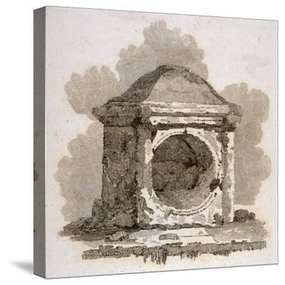 The London Stone, Cannon Street, City of London, 1806-William Bernard Cooke-Stretched Canvas Print