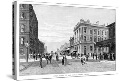 Queen Street, at the Edward Street Corner, Brisbane, 1860-WC Fitler-Stretched Canvas Print
