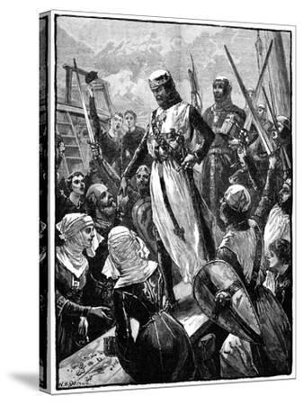Richard I, Coeur De Lion Landing at Sandwich, March 1194-William Heysham Overend-Stretched Canvas Print