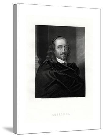 Pierre Corneille, French Tragedian and Dramatist, 19th Century- Woolnoth-Stretched Canvas Print