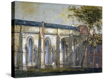 View of Temple Church, London, C1810-William Pearson-Stretched Canvas Print