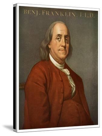 Benjamin Franklin, American Scientist and Politician, 1782-Joseph of Derby Wright-Stretched Canvas Print