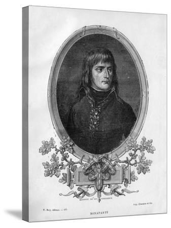 Napoleon Bonaparte, French General and Emperor, 1862 (1882-188)-Charaire et fils-Stretched Canvas Print