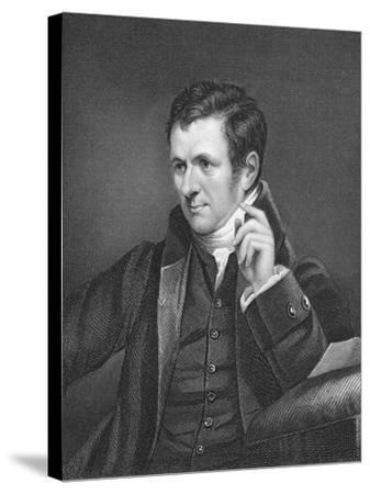 Humphry Davy, British Chemist, 19th Century-James Lonsdale-Stretched Canvas Print