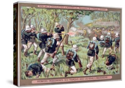 An Engagement Against the Hovas of Madagascar, 1883-1896--Stretched Canvas Print