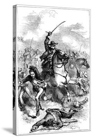 Battle of Buena Vista, Mexico, 1847--Stretched Canvas Print