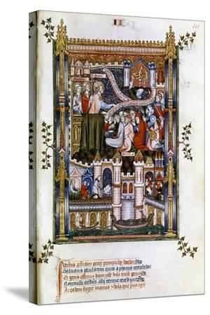 St Denis Preaching, 1317--Stretched Canvas Print