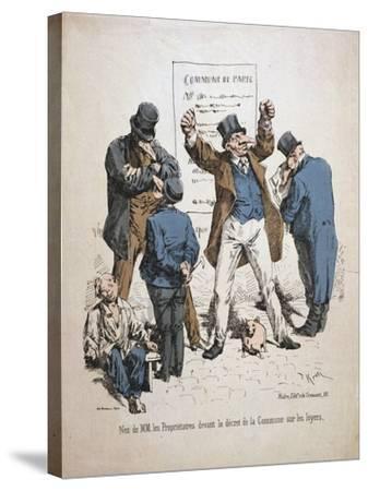 Caricature of the Proprietors, Paris Commune, 1871--Stretched Canvas Print