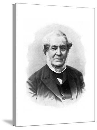Robert Wilhelm Bunsen, 19th Century German Chemist--Stretched Canvas Print