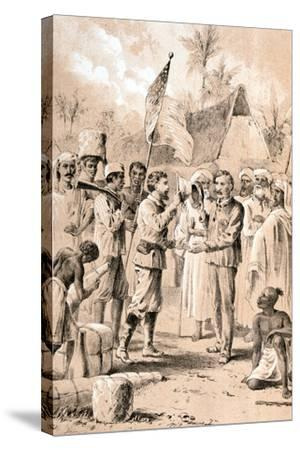 Dr Livingstone, I Presume?, November 1871--Stretched Canvas Print