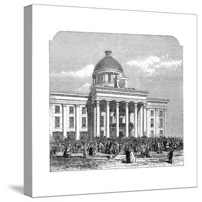 Inauguration of Jefferson Davis, President of the Confederacy, Montgomery, Alabama, 1861--Stretched Canvas Print
