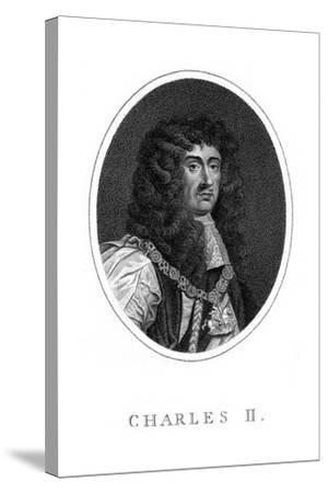 Charles II, King of England, Scotland and Ireland--Stretched Canvas Print