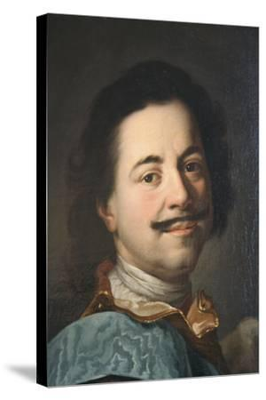 Portrait of Peter the Great, First Half of 19th Century--Stretched Canvas Print