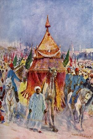 The Procession of the Mahmal, Cairo, Egypt--Stretched Canvas Print