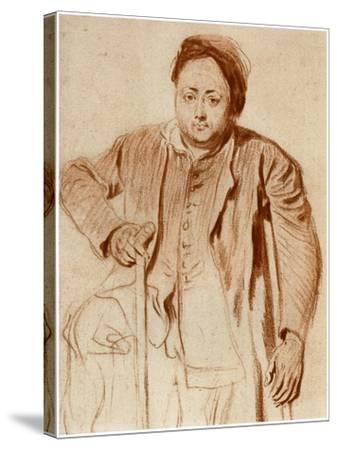 Portrait of a Man on Crutches, C1710-Jean-Antoine Watteau-Stretched Canvas Print