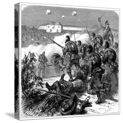 Bavarian Troops of the Prussian Army Storming Bicetre, Franco-Prussian War 1870--Stretched Canvas Print