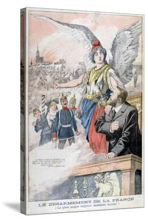 The Disarmament of France, the Wound Always Bleeds, Mr Jaures!, 1903--Stretched Canvas Print