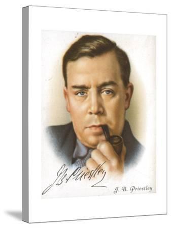 Jb Priestley, British Novelist, Playwright, Essayist and Broadcaster, C1927--Stretched Canvas Print