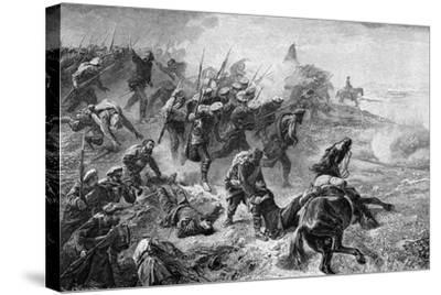 Attack of Basque Carlists During the Revolt of 1872-1876--Stretched Canvas Print