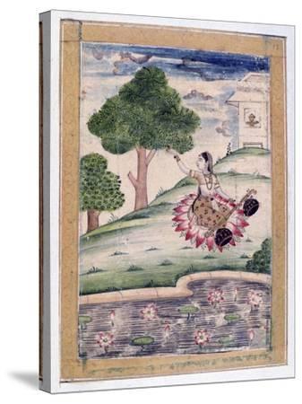 Gujari Ragini, Ragamala Album, School of Rajasthan, 19th Century--Stretched Canvas Print